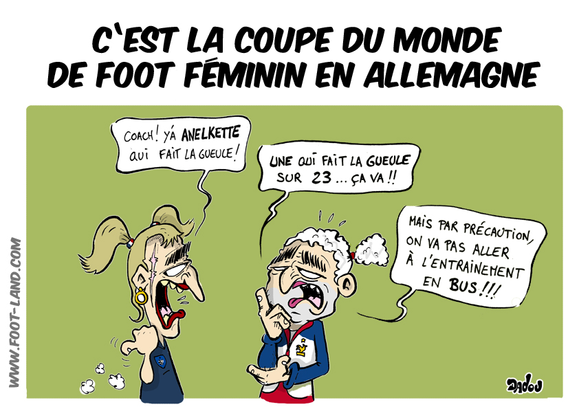 Caricatures 100 foot - Coupe du monde de foot feminin 2015 ...